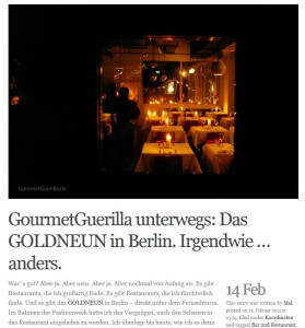 "Artikel ""GOLDNEUN"" in Berlin."