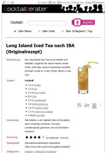 Rezept Long Island Ice Tea.