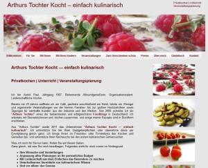 Astrids Unternehmensseite (Quelle: arthurstochterkocht.de)