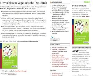 Das gleichnamige Buch (Quelle: unverbissen-vegetarisch.de)