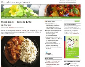 Ein Gericht mit Fleischersatz aus Weizengluten (Quelle: unverbissen-vegetarisch.de)