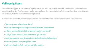 Die Grundlagen. (Quelle: vollwert-blog.de)