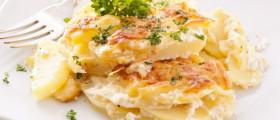 Bild eines Tellers Kartoffelgratin