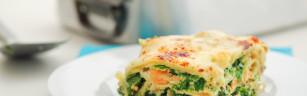 Spinat-Lachs-Lasagne ist auch optisch ein echter Genuss